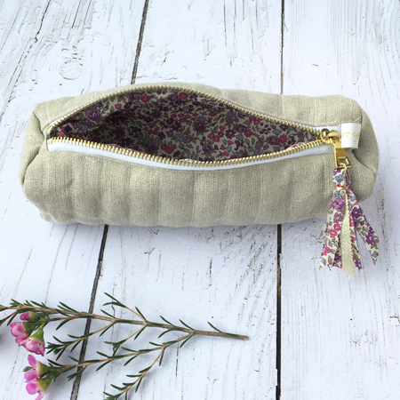 Trousse maquillage taupe